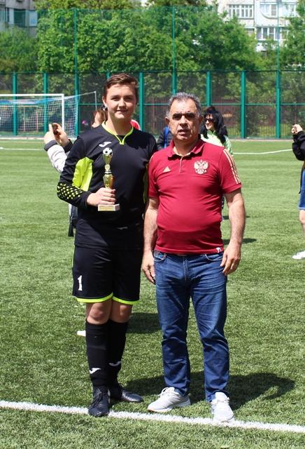 Лучший игрок в составе команды ДЮСШ по футболу г.Ставрополя Орехов Данил